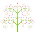 Colorful tree icon logo vector isolated on white background Royalty Free Stock Photo