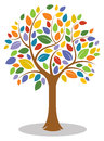 Colorful tree logo a icon Stock Photography