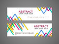 Colorful triangle pattern background advertising banner