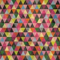 Colorful Triangle Pattern Background with Scratches