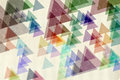 Colorful triangles textured paper Royalty Free Stock Photo