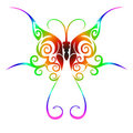 Colorful tribal butterfly tattoo Royalty Free Stock Photos