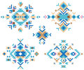 Colorful tribal design elements Royalty Free Stock Photo