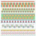 Colorful trim collection with flowers Royalty Free Stock Photography