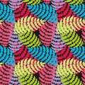 Colorful tropical branches. Vector seamless stylized pattern