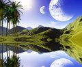 Colorful tropical landscape Royalty Free Stock Image
