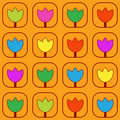 Colorful  tulips pattern Stock Photo