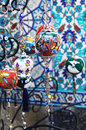 Colorful turkish crockery souvenirs Royalty Free Stock Photo