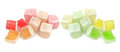 Colorful Turkish delight isolated on white background Royalty Free Stock Photo