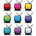 Colorful tv sets Royalty Free Stock Photography