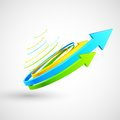 Colorful twisted arrow illustration of Royalty Free Stock Photos