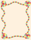 Colorful twisted candy border Stock Photography