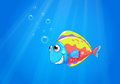 A colorful ugly fish under the sea illustration of Stock Photos