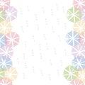 Colorful umbrella border frame