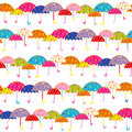 Colorful Umbrella Seamless Pattern Stock Photography