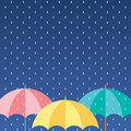 Colorful umbrellas background vcetor illustration Royalty Free Stock Image