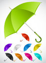 Colorful umbrellas set. Vector