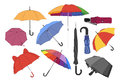 Colorful umbrellas set.