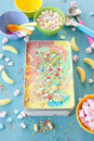 Colorful unicorn ice cream