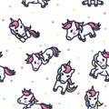 Colorful Unicorn Seamless Pattern