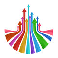 Colorful up arrows prism vector abstract design Royalty Free Stock Photo