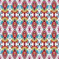 Colorful vector abstract kalamkari block pattern background design Royalty Free Stock Photo
