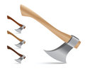 Colorful vector ax or axe set Royalty Free Stock Image