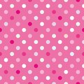 Colorful vector background with polka dots on pink background Royalty Free Stock Photo