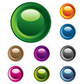 Colorful vector buttons Stock Photography