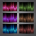 Colorful vector cards set abstract modern design Royalty Free Stock Photography