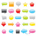 Colorful vector chat icons Stock Photography