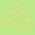 Colorful vector coat hangers abstract background Stock Image