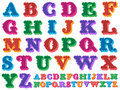 Colorful vector of the complete alphabet illustration a antiqua in caps over a white background Royalty Free Stock Image
