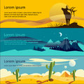 Colorful vector flat banner set quality design illustrations elements and concept the history of mountaineering unforgettable Stock Image