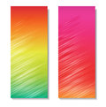 Colorful vector headers on the white background Royalty Free Stock Photography