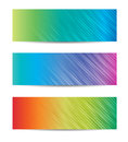 Colorful vector headers on the white background Royalty Free Stock Photos