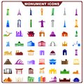 Colorful vector illustration of complete set of industrial icon Stock Photos