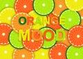 Colorful vector illustration of orange mood Royalty Free Stock Photo