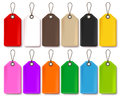 Colorful Vector Price Tags Collection Isolated in White Background Royalty Free Stock Photo