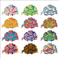 Colorful vector ribbons bows on white background colored set in a row a Royalty Free Stock Photography