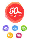 Colorful vector sale tags. Best price Royalty Free Stock Photo