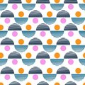 Colorful Vector seamless pattern. Abstract background with round