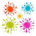 Colorful Vector Splash - Stain - Blot Illustration Set Royalty Free Stock Images