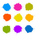 Colorful Vector Stains, Blots Royalty Free Stock Images
