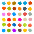 Colorful Vector Stains, Blots, Splashes Set Stock Images