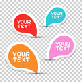 Colorful vector stickers set on transparent background Royalty Free Stock Photos