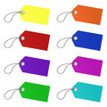 Colorful vector tags on white background Royalty Free Stock Photo