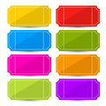 Colorful Vector Ticket Set Illustration Royalty Free Stock Photo