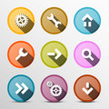 Colorful Vector Web Icons Set Royalty Free Stock Photo