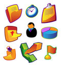 Colorful vectors: business workflow Royalty Free Stock Photo